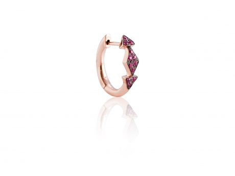 Mini Creola Triangoli rubini
